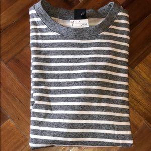 White & Grey Stripe H&M crewneck